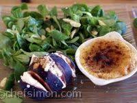 Crèmes brulées de foie gras et figues fraiches au brocciu