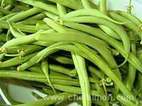 Haricots verts frais cuits à l'anglaise