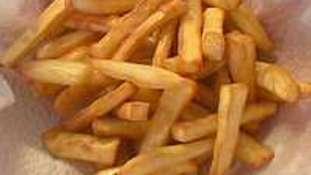 Frites et chips de patate douce