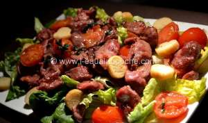 Salade de Gésiers de Canard Confits