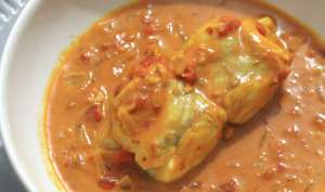 Queue de lotte au curry