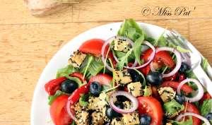 Salade vitaminée, tomate et tempeh