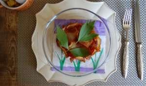Tartare de bouf et légumes de pot-au-feu à l'ache de montagne