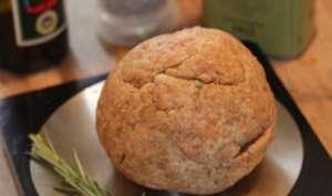 Pâte à tarte légère au yaourt, à l'huile d'olive, vinaigre balsamique et romarin