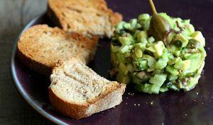 Tartare d'avocat et algue wakame