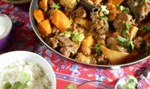 Curry d'agneau à la courge butternut