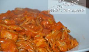 Spaghetti, poulet tomate et mascarpone