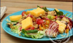 Salade de poulet et polenta