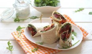 Wrap au boeuf, tomates séchées et roquette | Contes et Délices