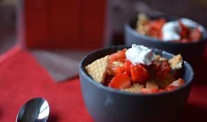 Verrines aux fraises minute