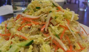 Salade de chou, christophine ou concombre,carotte épicée - vegane (République Dominicaine)
