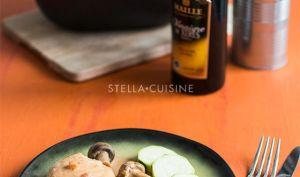 Poulet au vinaigre et champignons