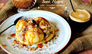 Saint Honoré au café noisette et caramel café au beurre salé