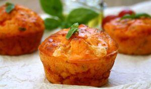 Muffins salés, tomates - mozzarella et basilic