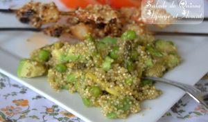 salade de quinoa asperge et avocat