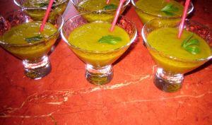Gaspacho de melon-concombre-basilic - Emma cuisine