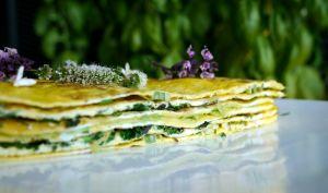 Mille-feuille d'omelette estival