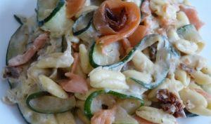 Tagliatelles de courgettes et pâtes Cavatelli au Boursault