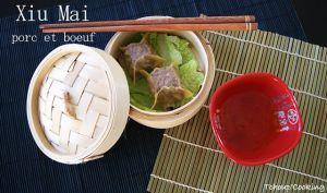 Xiu mai ou bouchées vapeur chinoises porc et boeuf