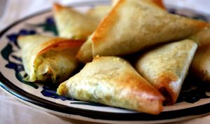Samoussa aux pois chiche, noix et persil