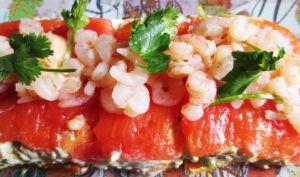 Millefeuilles de Tomates et Crevettes