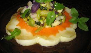 Salade de pâtisson et de petits légumes - Emma cuisine