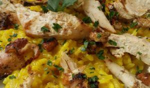Risotto poulet et épices