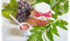 Confit de raisins du jardin à la verveine citronnelle