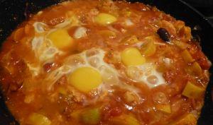 Cocotte de tomates aux oeufs