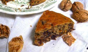 Violet Carrot Cake aux noix