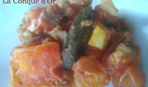 Saucisse et pommes de terre au four
