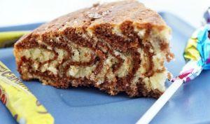 Gateau marbré zébré chocolat vanille au thermomix facile et rapide