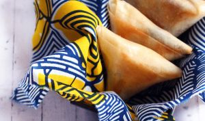 Samoussas au chocolat et banane plantain