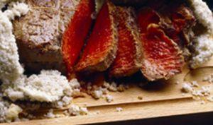 Côte de bœuf en croûte de sel