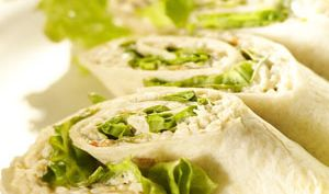 Wrap de ricotta et guacamole au surimi