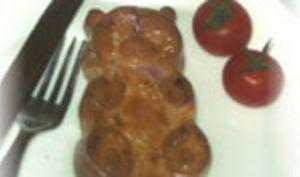 Quiche Sans Pâte Jambon, Champignons, Olives