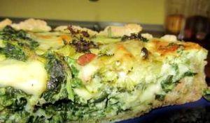 Tarte aveyronnaise au fromage, épinards, brocolis