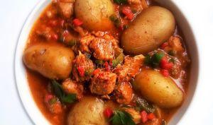 Axoa de veau aux poivrons et au piment d'Espelette