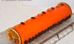 Bûche de noël à l'orange et aux truffes
