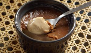 Petits pots de crème chocolat caramel