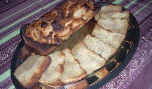 Cake aux pommes facile et rapide.