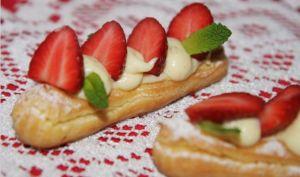 Eclair aux fraises