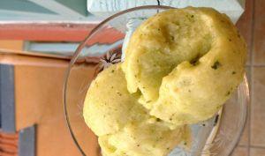 Sorbet 100% sain courgette-citron-menthe – Sans sorbetière !