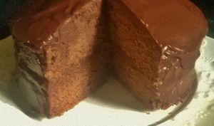 Devil's food cake...Le Gâteau au chocolat plein de chocolat