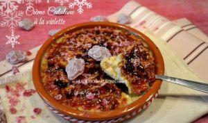 Creme catalane à la violette givrée de Toulouse