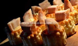 Bouchées de Suprêmes de Truite Fumée Mayonnaise Tomates Séchées et Câpres
