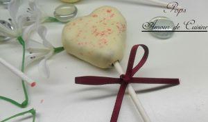 cake pops en forme de coeur