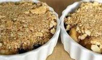 Crumble pommes myrtilles - Etape 10