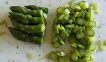 Feuilletés d'oeufs brouillés aux asperges vertes - Etape 4