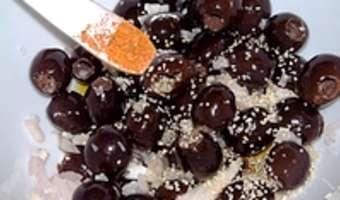 Olives apéritives - Etape 4